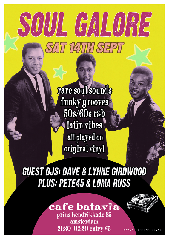 Northern Soul Amsterdam Saturday 14th September 2019 with Dave and Lynne Girdwood