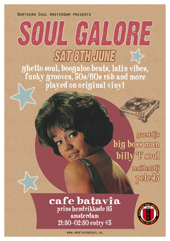 Northern Soul Amsterdam Saturday 8th June 2019 Cafe Batavia