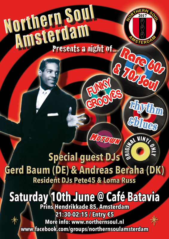 Northern Soul Amsterdam soul club June 2017
